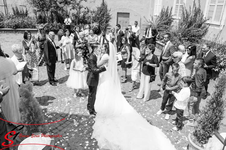 fotografia di matrimonio con drone