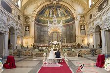 Fotografo di matrimonio Roma chiesa Santa Cecilia in Trastevere