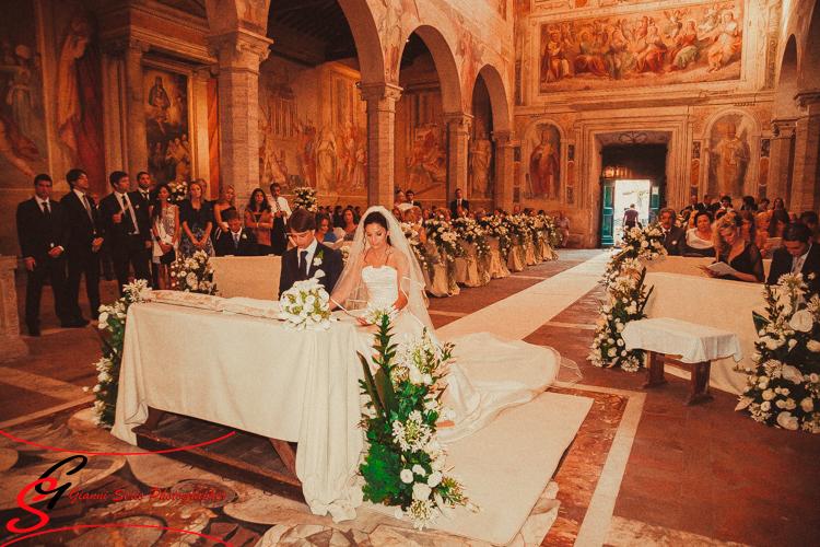 Fotografo matrimonio roma chiesa San Nereo e Achilleo