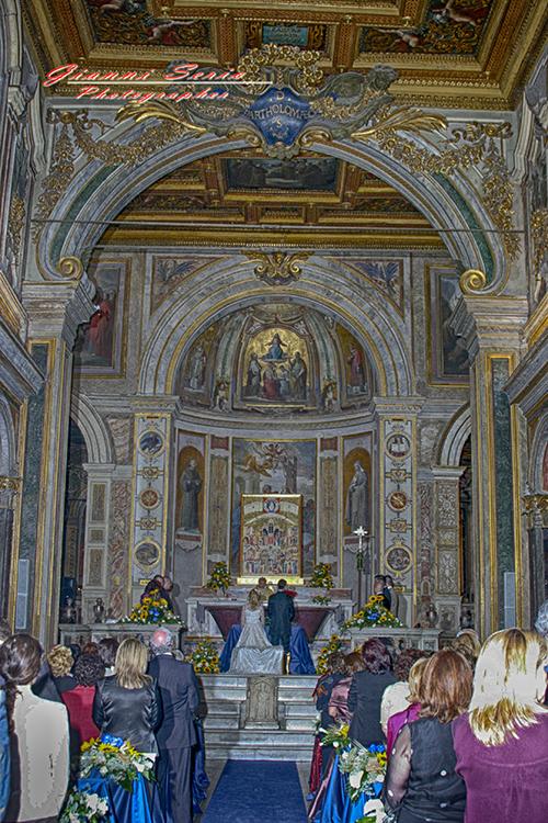 Fotografo matrimonio Chiesa San Bartolomeo Isola Tiberina Roma